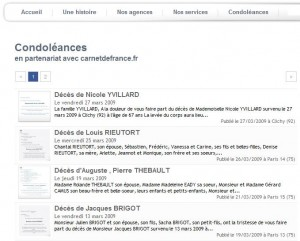 Widget Faire-part de Carnet de France