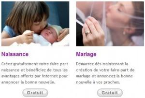 faire-part gratuit sur Carnet de France